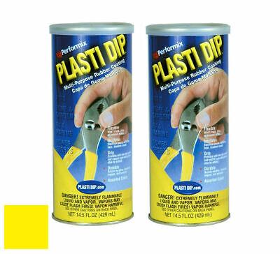 Plasti Dip 11602-6 Multi-purpose Yellow Synthetic Rubber Coating 14.5oz 2 Pack
