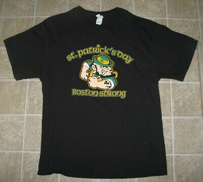 Herren (XL) St.Patricks Tag Boston Stark - Herren St Patricks Tag Shirts