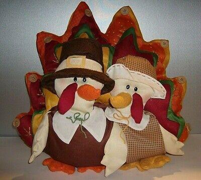 Mrs Tom Turkey (Thanksgiving Decoration Mr. & Mrs.Tom Turkey Pillow 3-D  16