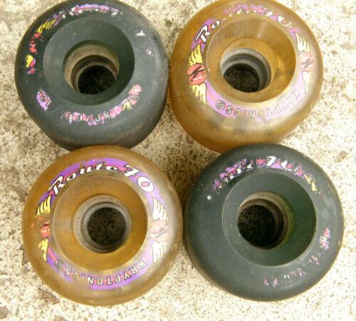 Kryptonics Route 70 Skateboard Longboard Wheels Set of 4 - 80a 70mm
