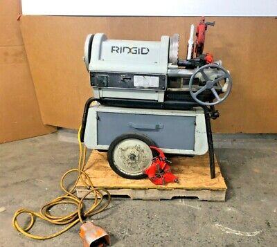 Ridgid 1224 Power Threader Threading Machine 12 To 4 Pipe 1-12hp 120v 1ph