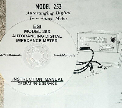 Electro Scientific Esi 253 Digital Impedance Meter Operating And Service Manual