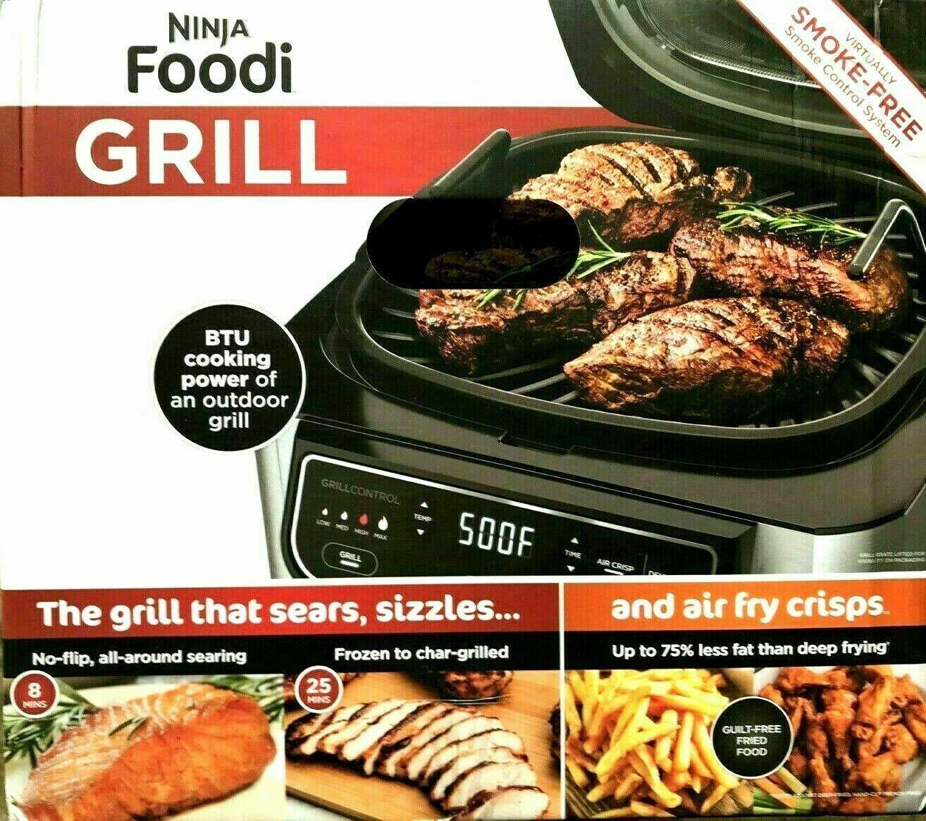 Ninja Foodi 5-in-1 Indoor Grill with Air Fry, Roast, Bake &