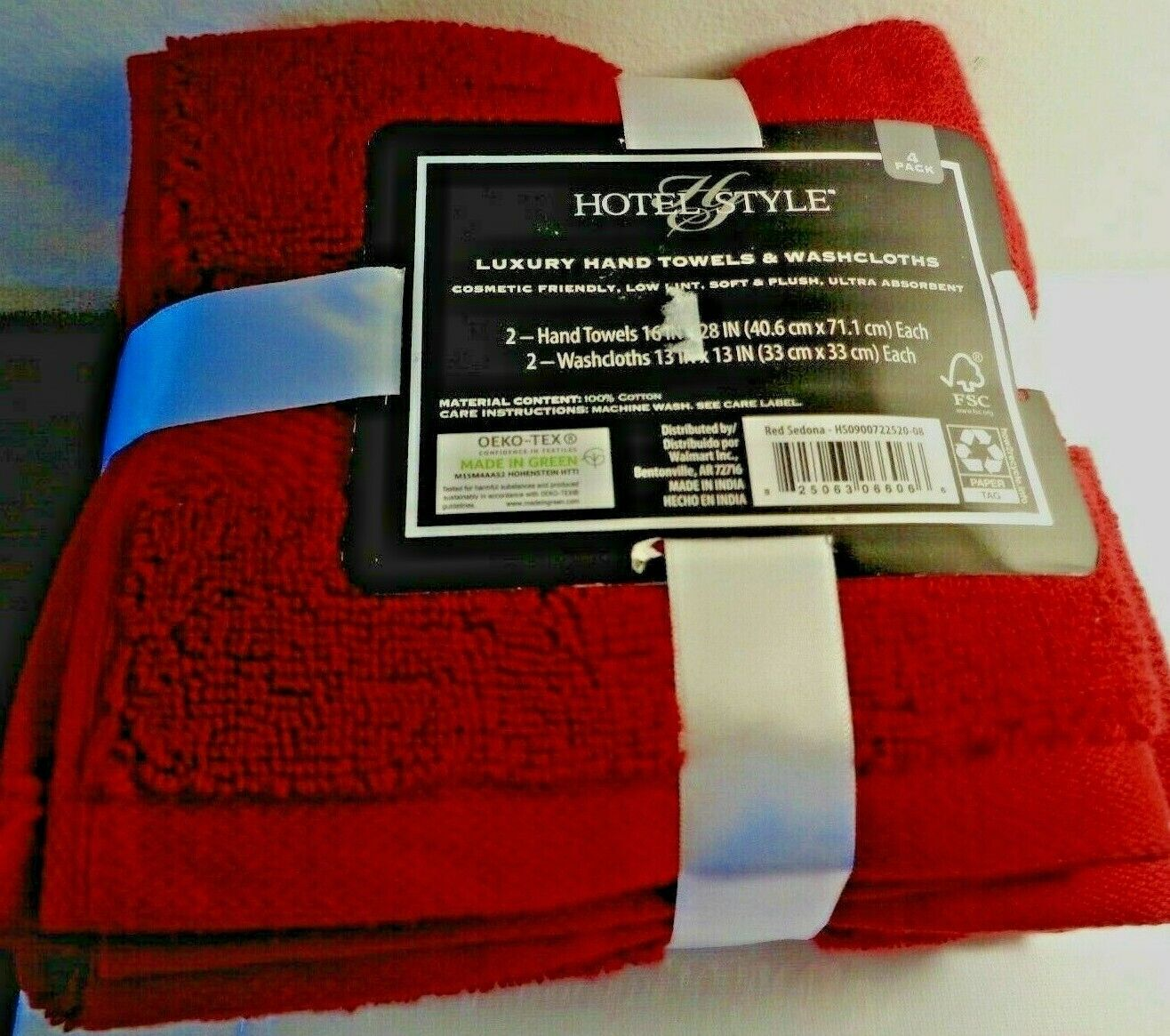 Hotel Collection 4- Piece Set 2 Hand Towels & 2 Wash Cloths