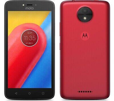 "Motorola Moto C 4G 5"" Smartphone 16GB Unlocked Sim-Free Android - (Red) B+"