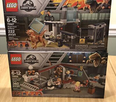 LEGO Jurassic World - 75932 Velociraptor Chase 75927 Stygimoloch Breakout Set