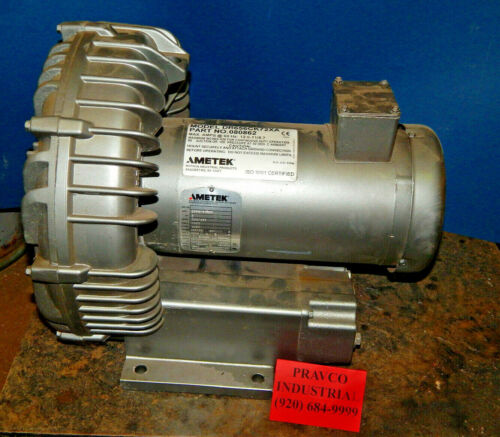 Ametek DR656CK72XA Regenerative Blower 4HP TEFC 230/460Volt 3450RPM 10/5Amp 3PH