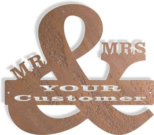 DXF CNC Plasma Laser Cut Ready Vector Mr and Mrs MonoGram Stock
