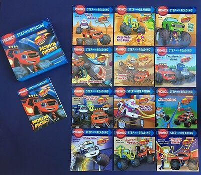 Blaze Monster Machines Lot 12 Children's Books Phonics Step into Reading NEW