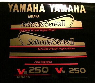 Yamaha OX66 Saltwater Series II Outboard Decals  USA free ship 150 - 250