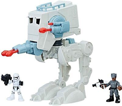 Star Wars Playskool Galactic Heroes AT-ST Vehicle Playset with 2 Action Figures