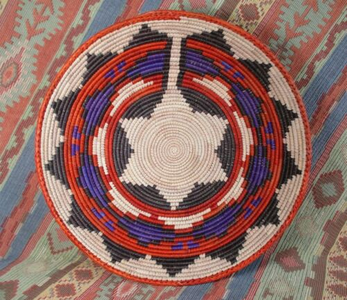 Southwestern Style Basket   Colorful Geometric Design  approx 12 inches