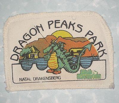 "Dragon Peaks Park Patch - South Africa - Natal Drakensberg - 4 3/4"" x 3 3/8"""
