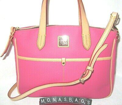 Dooney & Bourke Pink Canvas Coated Rebecca Hobo Shoulder Handbag NWT $198