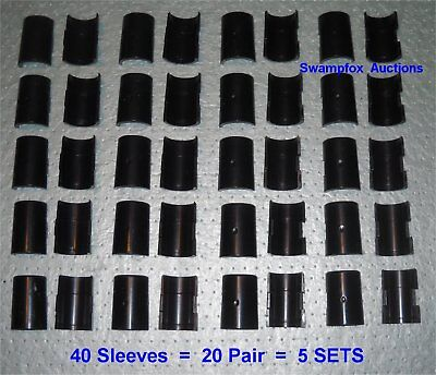 """5 SETS (20 Pair) SPLIT SLEEVES/Shelf Clips for ALL 1"""" Metro-Style Wire Shelving"""