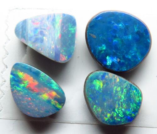 Doublet Opal 4 Stone 3.03ct Australian Free form Parcel