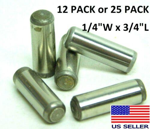 "12 or 25! 1/4"" Width x 3/4"" Long Dowel Solid Alloy Steel Shelf Furniture Pin HF"