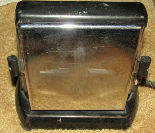 "ANTIQUE STERLING CO. CHICAGO MANF. CO. DOUBLE SIDED ELECTRIC TOASTER ""AS IS"""