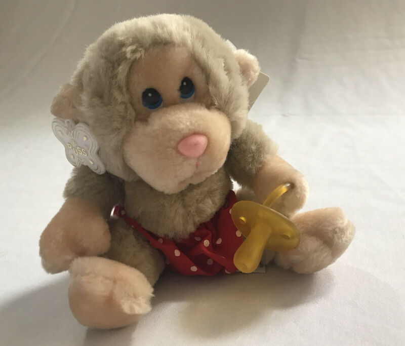 Russ - Baby Chee Chee -  Monkey With Pacifier & Diaper Plush Stuffed Animal 7