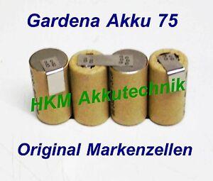 Gardena-Batteria-75-4-8V-3-Ah-NiMH-ORIGINALE-pile-marca-per-CARICATORE