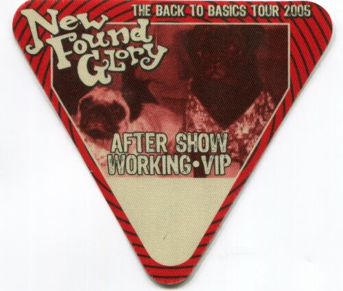 NEW FOUND GLORY 2005 Basics Tour Backstage Pass!!! custom concert stage Pass #8