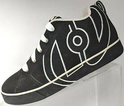 Heelys Skate Street Shoe No Bones Black White Lace Up Lo 7494 Boy Girl Youth 6 M