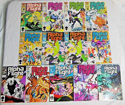 ALPHA FLIGHT #35-39, 42-43, 45, 49-50 54 * Marvel Comic Lot * 13 Comics - 1983 -