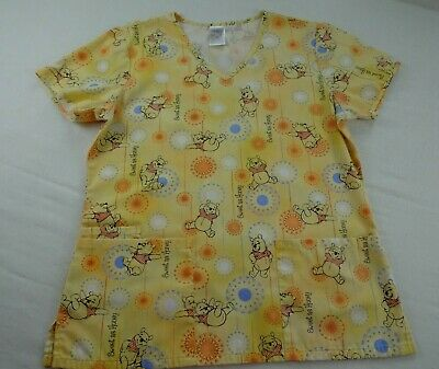 Winnie The Pooh Sweet as Honey Women's Ladies Medical Dental Nurse Scrubs Small