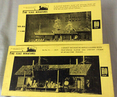 2 FSM Fine Scale Miniatures kits #45 Freight House & #55 Truck Terminal