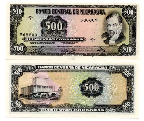 Nicaragua - 500 Cordobas 1972 Pick 127 UNC Lemberg-Zp
