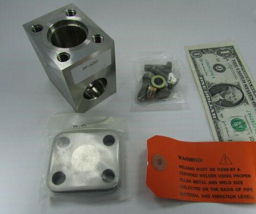 """New Omega 3/4"""" Paddle Wheel Flow Sensor / Transmitter Tee Housings FP-5207 316SS"""