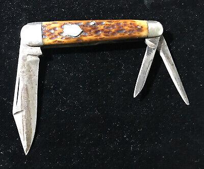 Vintage Pacific Knife Pacific Hardware & Steel Co. 3 BLADE Pocket Knife, Folding