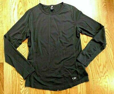 Icebreaker Merino Wool Cool Lite Shirt Grey Active Running Top Womens Medium