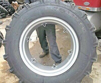 1 14.9x28 8ply R1 Ag Tread Tractor Tire Wtube 6loop Rim New Bolts