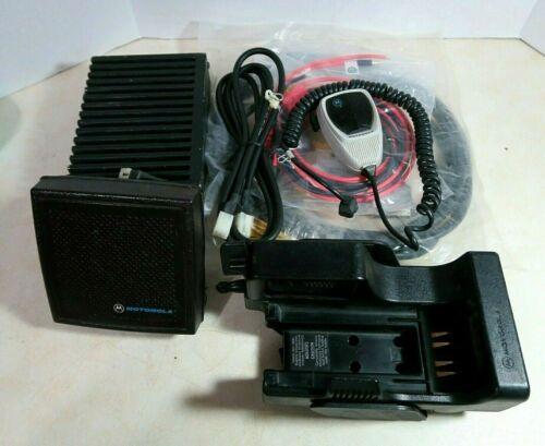 Motorola NTN1340B Convertacom Vehicle Adapter MTVA with Amp, Speaker, Microphone
