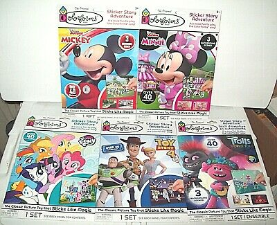 Lot of 5 Colorforms Sticker Story Adventure Party Gift Idea New