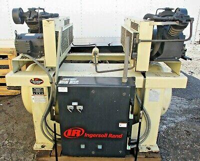 Ingersoll Rand Duplex 2-2475e5 5hp Air Compressor 120 Gallon Tank