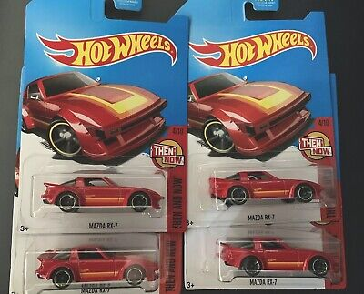 New Hot Wheels 2017 Kmart Kday Red Mazda Rx-7 Jdm Car Toy Exclusive Lot Of 4 Rx7