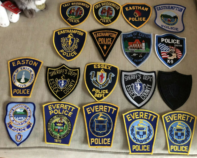 Massachusetts Police Patch Lot of 18 E's