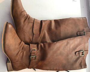 Tan Faux leather Boots