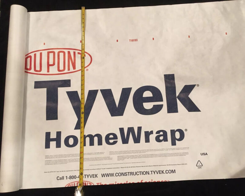 "Tyvek HomeWrap 38"" W x 150Ft. L Home Wrap"