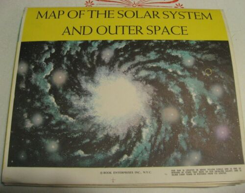 """Vtg Map of the Solar System is Out of this World! Book Enterprises•35""""x47"""""""