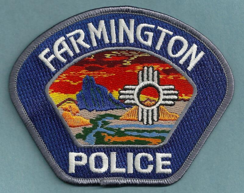 FARMINGTON NEW MEXICO POLICE SHOULDER PATCH COLORFUL!