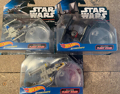 Star Wars Hot Wheels Starships Y-wing, X-wing, Tie fighter First Order BnVehicle
