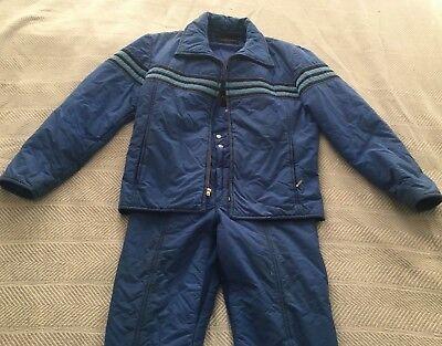 7283512f2c Vintage HEAD Snow Ski Suit Jacket Overalls Cobalt Blue Size 32 Reg (S M) 80s  90s