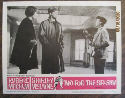 TWO FOR THE SEESAW ORIGINAL 11X14 LOBBY CARD #5 ROBERT MITCHUM SHIRLEY MACLAINE