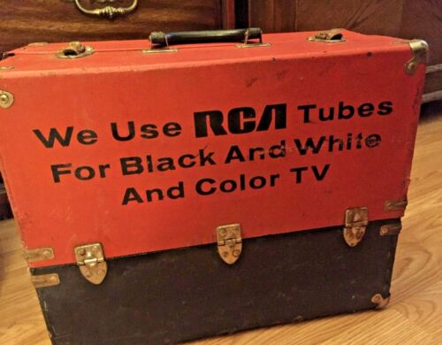 Radio Tube Case RCA  Used Condition missing inside right cover Misc Tubes Inclu