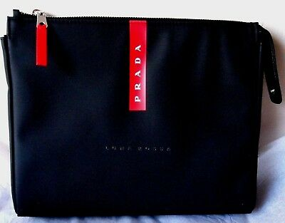 78b7ccfad3f5 PRADA Luna Rossa Perfume Men Travel Pouch Toiletry Bag Black/Red New