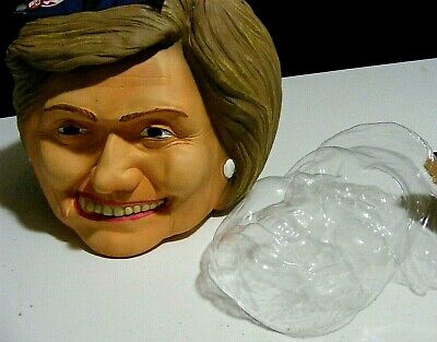 HILLARY CLINTON Mask, Halloween or rally, by Politically Incorrect,+ jello mold*