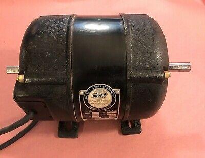 Walker Turner The Driver 900 Drill Press Motor 13 Hp 1 Ph 1740 Rpm Dual Shaft